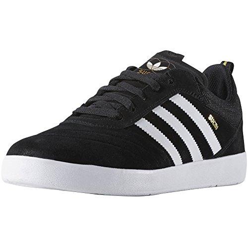 adidas SUCIU ADV Black/White/Gold Metallic Skate Shoes-Men 13.0, Women 14.5