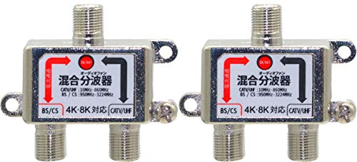 オーディオファン 分波器 アンテナ 3224MHZ 対応 ノイズ 8K 4K AFDV2N 50cm ケーブル付き