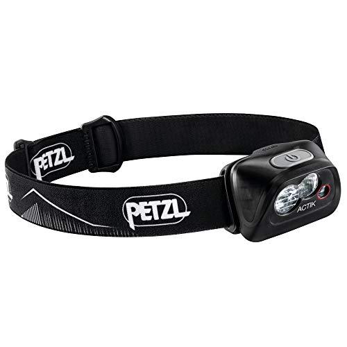 PETZL Lampe Noire, Lampada Actik Nera Frontale, Taglia Unica Unisex Adulto, Nero