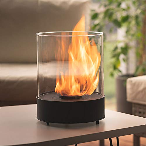 Tabletop Bioethanol Fireplace – Longest Burning 5h -Garden Fire Heater 3kW - Indoor/Outdoor – 1L Fuel Inc, Free Shipping - Decoration for Balcony - Home and Garden Gift Ideas - Chantico by Planika