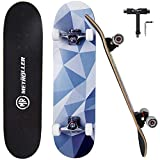 METROLLER Skateboard, 31'x 8' Pro Complete Standard Skate Boards for Girls Boys Beginner, 7 Layer...