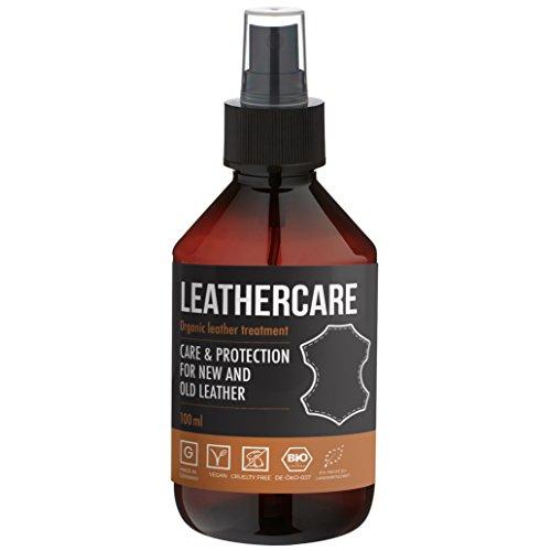 LeatherCare Bio Lederreiniger I 100 ml Premium Lederpflege Auto & Motorrad I Ideale Lederpflege für Ledercouch I Polsterreiniger für Zuhause I Sauber & strahlend I Imprägnierend