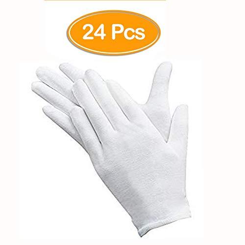 12 paia di guanti bianchi Andston, guanti da ispezione in morbido cotone, guanti per monete in...