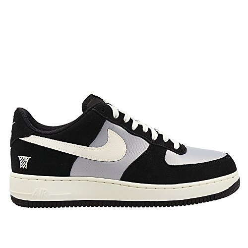 Nike air Force 1 Mens Trainers 820266 Sneakers Shoes (US 9.5, Black sail Wolf Grey 002)