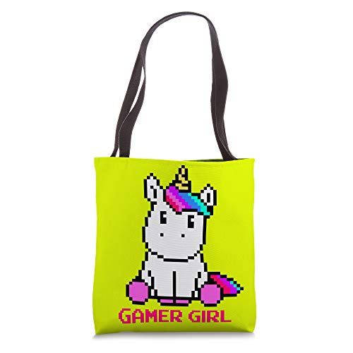 Gamer Girl Gift Kawaii Rainbow Unicorn Gaming Video Games Tote Bag