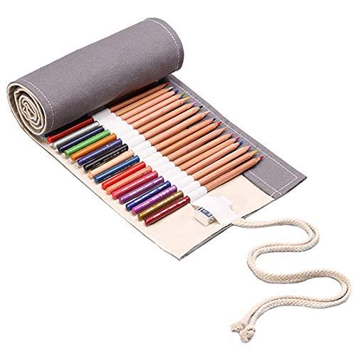 72 rotoli di matita colorata Borsa Tenda della penna di grande capacit Roll Up colorato Sacchetto della matita colorare sacchetto per artista Canvas roll up matita wrap per Sketching Drawing