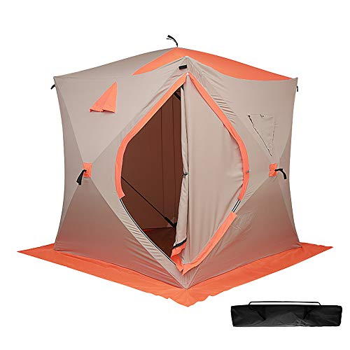 ibigbean Ice Fishing Shelter 4 Persons Portable Water-Proof Ice Tent with Carry Bag -...