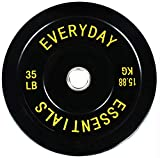 BalanceFrom Everyday Essentials Color Coded Olympic Bumper Plate Weight Plate w Steel Hub, Multiple