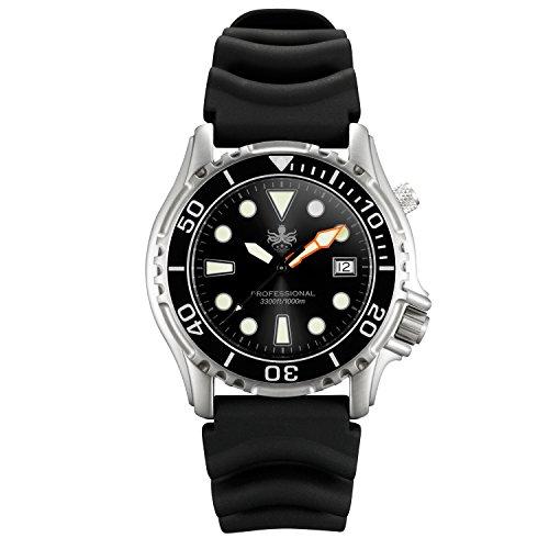 Phoibos Men's PX005C 1000M Dive Watch Swiss Quartz Black Sport Watch…