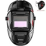 Mintiant Flip-up True Color Solar Power Auto Darkening Welding Helmet, Flame Retardant Heat Resistance Weld Hood, Large Wide Viewing Field for MIG TIG ARC MMA Welding Mask