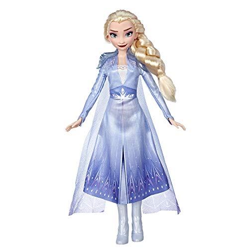 Hasbro Disney Frozen - Elsa Fashion Bambola con Capelli Lunghi e Abito Blu, Ispirata al Film Frozen 2, Multicolore, E6709ES0