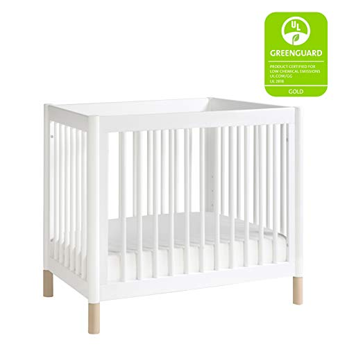 Product Image 2: Babyletto Gelato 4-in-1 Convertible Mini Crib in White / Washed Natural, Greenguard Gold Certified