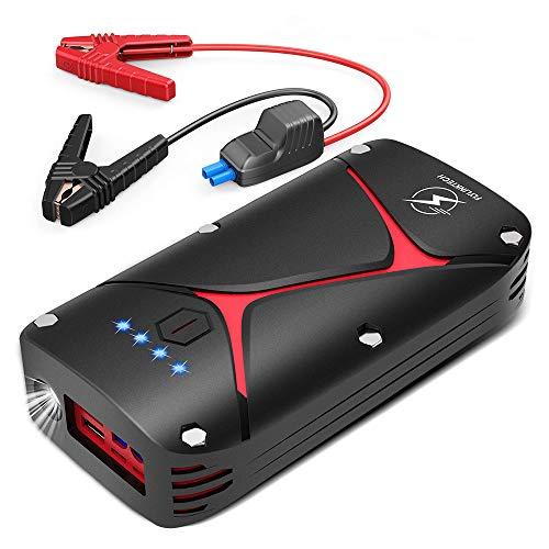 FLYLINKTECH Avviatore Emergenza per Auto, 1000A 15000mAh Avviatore Batteria Auto 12V Jump Starter Booster Avviamento Auto Impermeabile IP68 Power Bank, Starter Batteria Auto con QC 3.0 e Tipo C