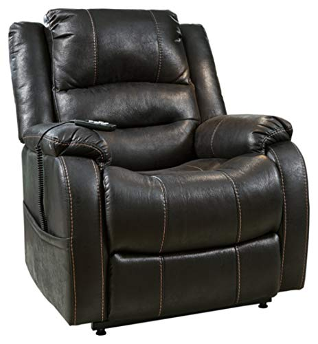 Signature Design by Ashley - Yandel Contemporary Upholstered Power Lift Recliner, Black