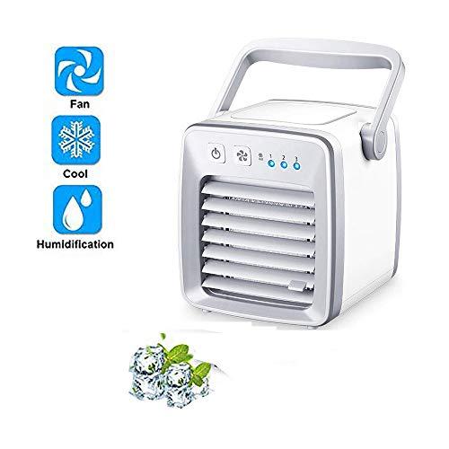 AIJJ Refroidisseur d'air Climatiseur Climatiseur Mobile Air Cooler 3 en 1 Ventilateur Climatiseur Humidificateur Purificateur d'air Multifonction, 3 Fichiers