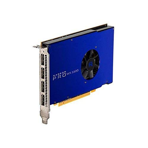 Scheda grafica AMD Radeon Pro WX5100 - 8GB GDDR5, PCIe 3.0, 4x DisplayPorts