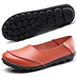 Hsyooes Women's Leather Loafers & Slip-Ons Flats Driving Walking Casual Moccasins Soft Sole Shoes