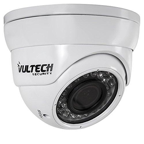 VulTech Security CM-DM960AHDV-B Telecamera, Dome, Varifocale, AHD, 1/4', 1.3 mpx, 960 p, 2.8-12 mm, 36 Pezzi, LED IR, 35 m, Bianco