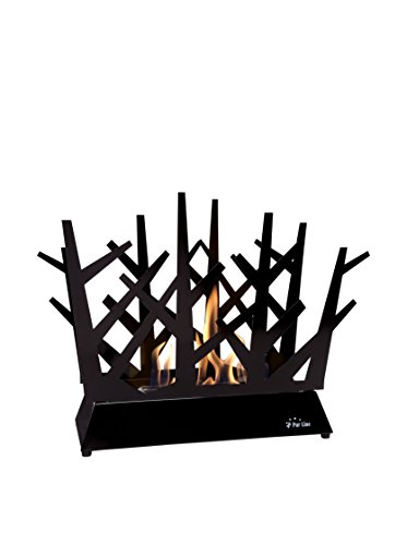 PURLINE DAFNE B Bio-ethanol fireplace Table in Steel, Black