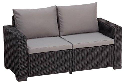 Allibert Lounge Sofa California 2-Sitzer, graphit/panama cool grey