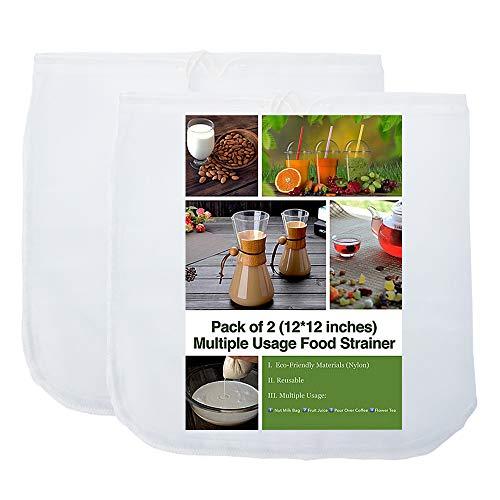 Nut Milk Bag - 12X12 Inches