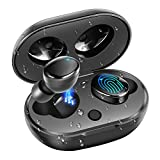 Bluetooth 5.0 Wireless Headphones, DuoTen IPX7 Waterproof 27H Playtime AAC 8.0 CVC 8.0 True Wireless Earphones Earbuds with Hi-Fi Deep Bass 3D Stereo Sound, Touch Control & Charging Case