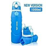 'Anoak - Bouteille d'eau pliable 1000ML bouteille de sport pour le camping,...