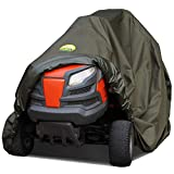 Family Accessories Riding Lawn Mower with Bagger Cover, 100% Waterproof Heavy Duty 600D Storage for Lawnmower Tractor with Attachment, XL 98Lx44Wx43H