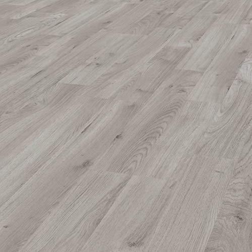 Pavimento Laminato Kronotex a Incastro, Scatola da 2,390m²/AC3, Spessore 7mm. Rovere Grigio Inverno