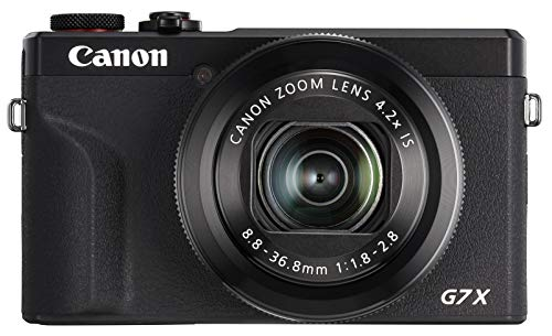 Canon コンパクトデジタルカメラ PowerShot G7 X Mark III ブラック 1.0型センサー/F1.8レンズ/光学4.2倍ズーム PSG7XMARKIIIBK