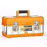 Cajas y maletines Cajas de herramientas de acero inoxidable for la herramienta de instalación de mantenimiento y establece pechos multifuncional herramienta portátil Auto piezas de repuesto caja de he