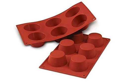Silikomart 20.023.00.0060 SF023 Moule Forme Muffin Taille Moyenne 6 Cavités Silicone Terre Cuite (Cuisine)