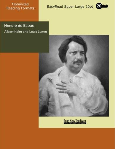 Honor de Balzac: [EasyRead Super Large 20pt Edition]