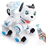 Toch RC Robot Dog, Cute Pets Smart Intelligent Walk Sing Dance Dog for Kids Toddler Birthday Gift