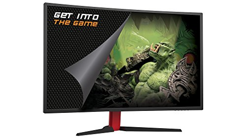 Keep Out Gaming XGM32 - Monitor Curvo Gaming, Negro/Rojo