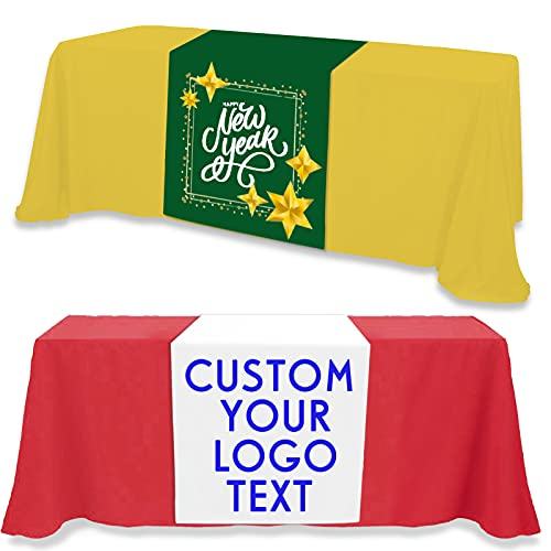 Custom Table Runner with Business Logo Up to 36'x72' Personalized...