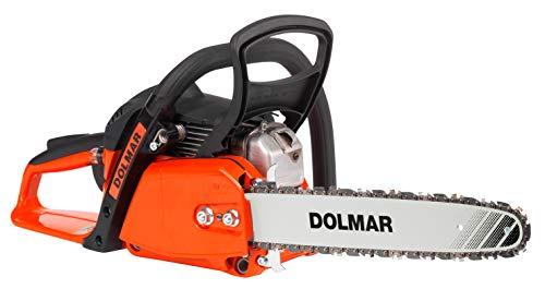 Dolmar Benzin Kettensäge (Hubraum 32 cm³, 1,8 PS, Kraftstofftank-Inhalt 400 ml. Schienenlänge 40 cm, Kette 3/8 Zoll ) PS32C-40
