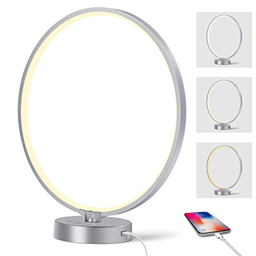 Light Therapy Lamp, Doraubia UV-Free 10000 Lux Sun Lamp, Led Daylight Lamp with 3 Color Temperature, AdjustableBrightness Levels, Timer & Memory Function for Home/Office Use