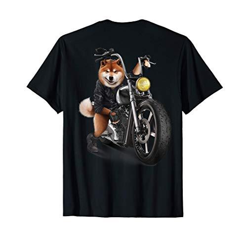柴犬 いばけん 犬 バイク バイカー Tシャツ
