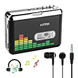 USB Cassette to MP3 Converter, Portable Cassette Audio Music Player Tape-to-MP3 Converter with Earphones and Carry Bag