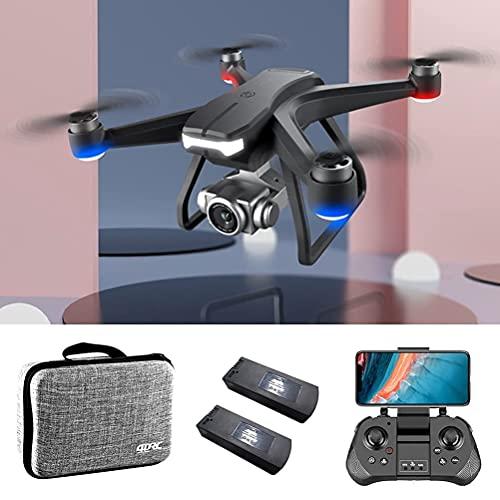Trasmissione FPV WiFi Drone 5G Professionale, Droni GPS con Gimbal Anti-Shake, Mini Quadricottero FPV con Motore Brushless, Resistenza Al Vento Livello 8, Tempo di Volo 60 Minuti, Con 2 Batterie
