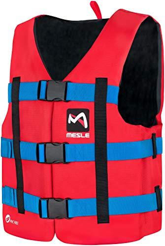 MESLE Schwimmhilfe H600, 2XS-3XL, 50-N Auftriebsweste Prallschutz Schwimmhilfe, für Erwachsene Jugendliche Kinder, Wasserski Wakeboard Impact-Vest Paddel-Weste, Größen:S