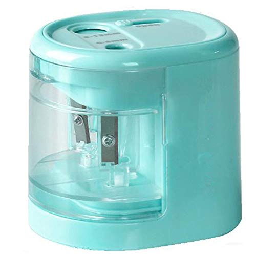 TGHCP Double Hole Electric Pencil Sharpener, Fast Sharpen Automatic Pencil Sharpener for 6-8MM & 9-12MM Diameter Pencils, USB/Battery Operated in School Classroom/Office/HomeBlue