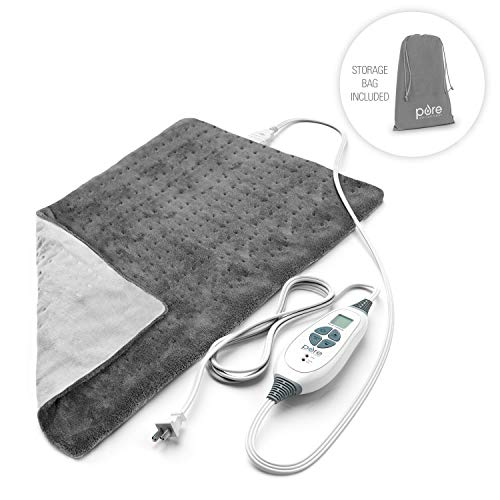 Pure Enrichment PureRelief XL Heating Pad for Back Pain and Cramps - Fast-Heating,...
