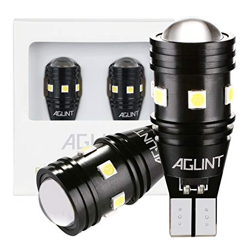 AGLINT T15 W16W LED Lampadina CANBUS Senza Errori 12V 24V 3030 10SMD 921 912 Luce per RV Interna Illuminazione Auto Retromarcia Freno Parcheggio Luci Bianco 6000K