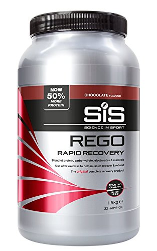 Science in Sport Rego Rapid Recovery, Whey Protein Recovery Shake with Added Carbohydrates & Electrolytes for Muscle Recovery (Chocolate, 1.6 kg)