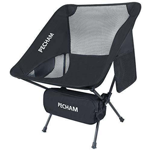 PECHAM アウトドアチェア キャンプ椅子 折りたたみ より安定 コンパクト 超軽量 ハイキング お釣り 登山 耐荷重150kg 収納袋付属 一年保証