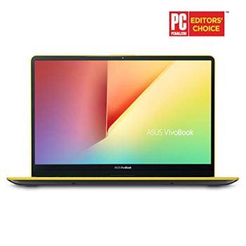 "Asus Vivobook S15 Slim and Portable Laptop, 15.6"" Full HD NanoEdge Bezel, Intel Core I5-8265U Processor, 8GB DDR4, 256GB SSD, Windows 10 - S530FA-DB51-YL, Silver Blue with Yellow Trim"
