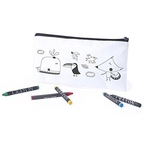 Set di 20 astucci da colorare con 5 colori a cera inclusi ciascuno, ideali per regali di compleanno,...