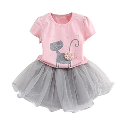 K-youth Vestido de niña, Vestido para Bebés Ropa Impresa d